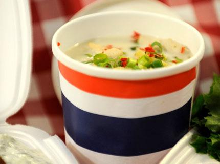 тайландска пилешка супа