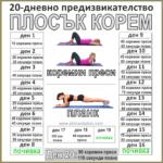20-дневно предизвикателство за плосък корем (ПЛАНК + КОРЕМНИ ПРЕСИ)