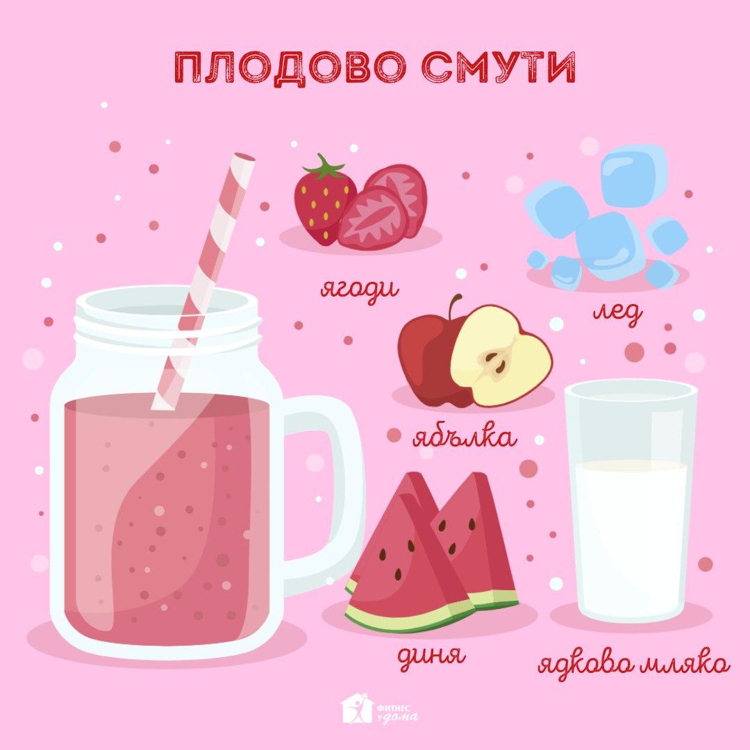 рецепта за плодово смути