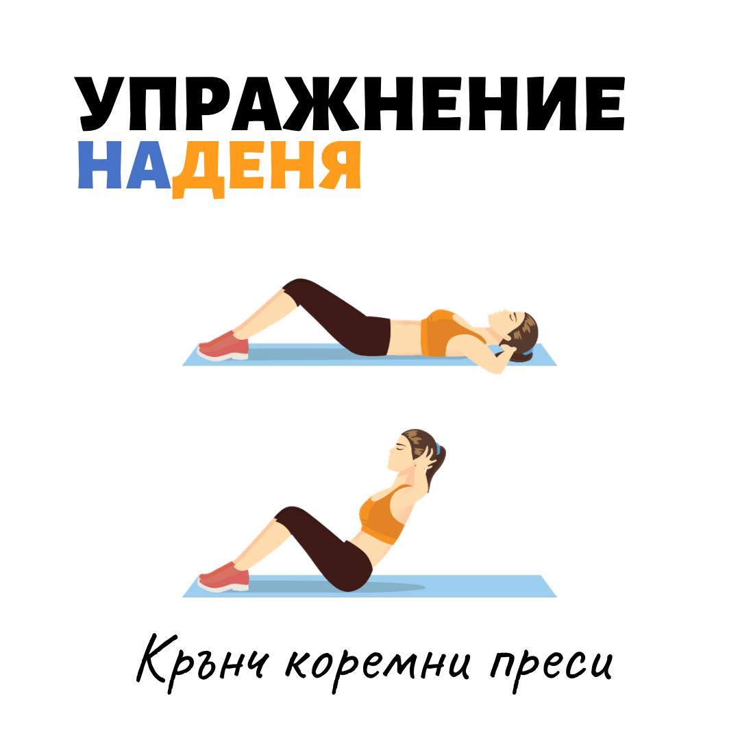 упражнение крънч коремни преси