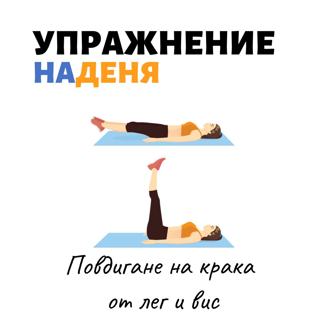 повдигане на крака от лег упражнение