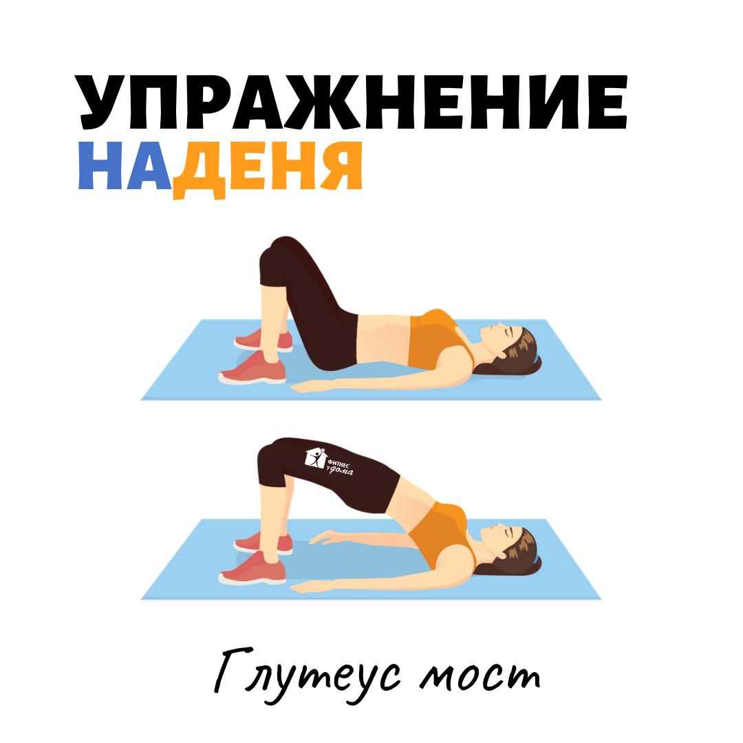 глутеус мост упражнение